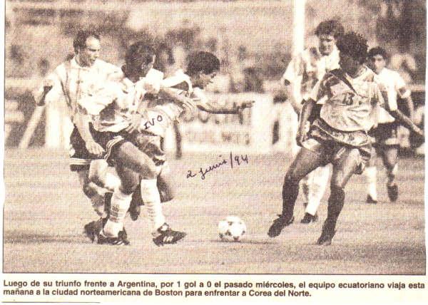 ecuador ante argentina 94