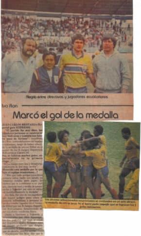 ecuador medalal de oro por gol de mi papa
