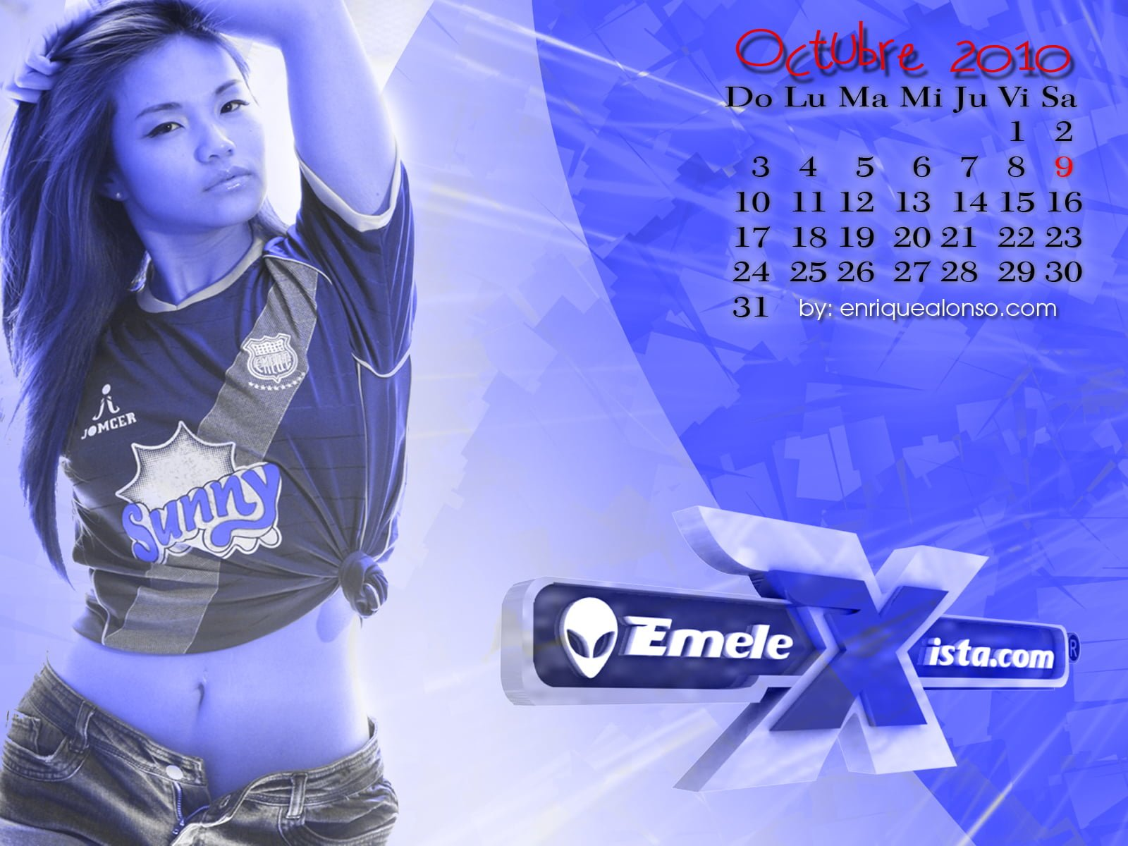 sally – wallpaper calendario octubre 2010 – por enrique alonso