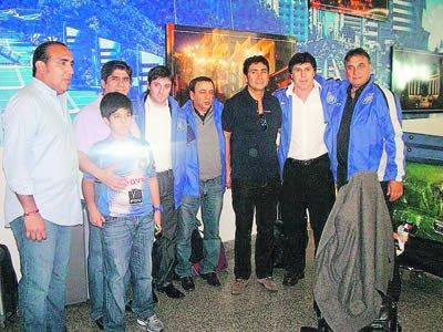 Juan Ramón Carrasco presenció el Clásico amistoso en Portoviejo
