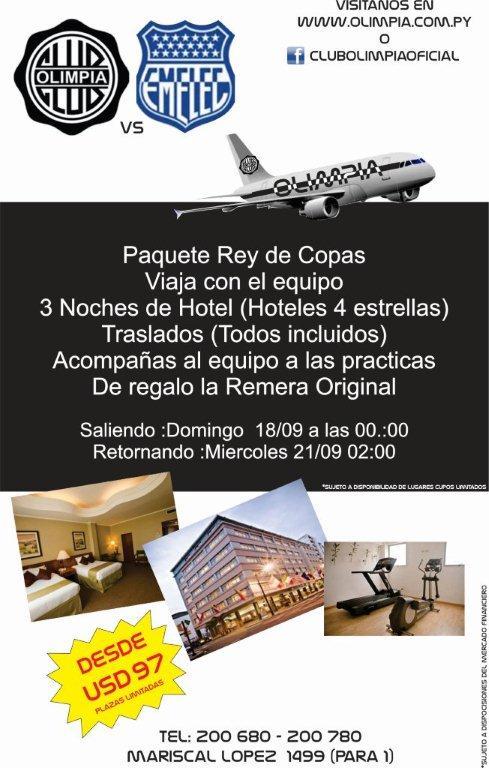 A la venta entradas para Olimpia y EMELEC en Paraguay