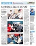 Staff de Radio emeleXista fue entrevistado por Diario El Comercio