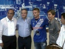 Cristian Nasuti llegó a Guayaquil y se puso la #4 del Bombillo