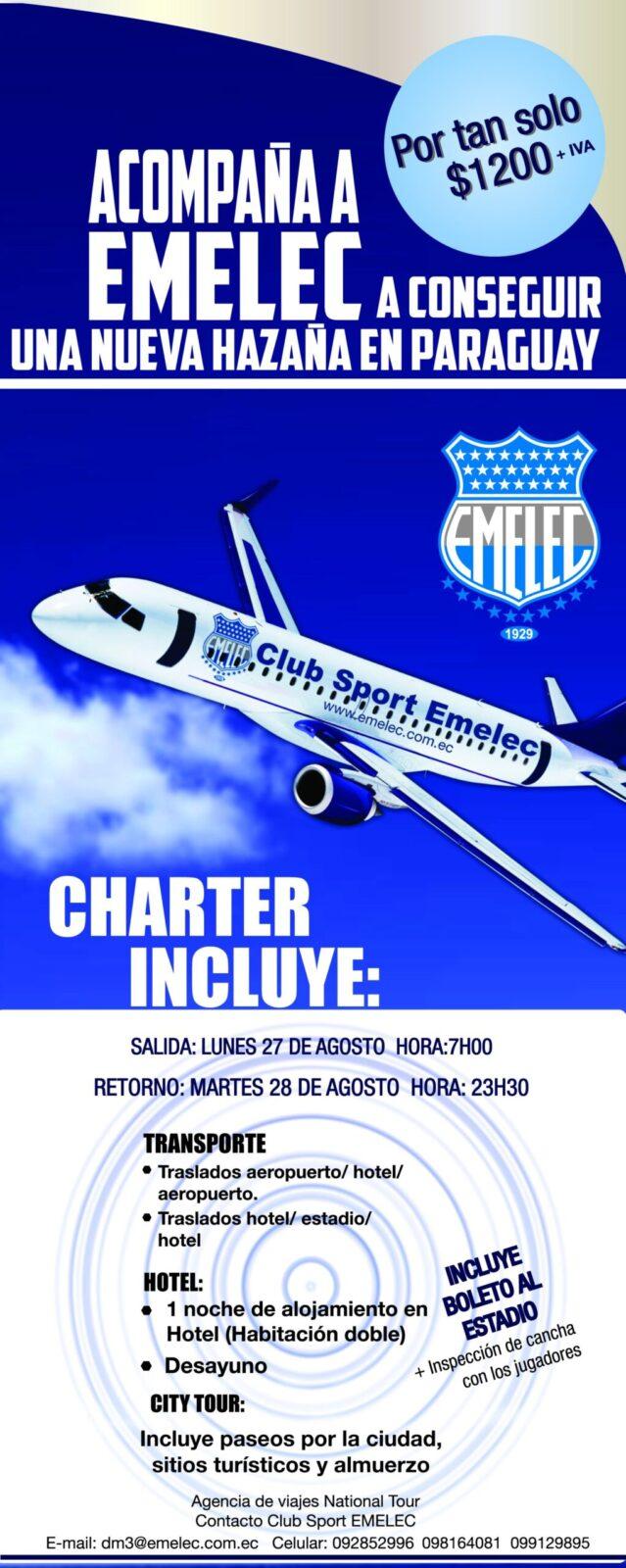 boletín oficial : charter a paraguay por copa sudamericana