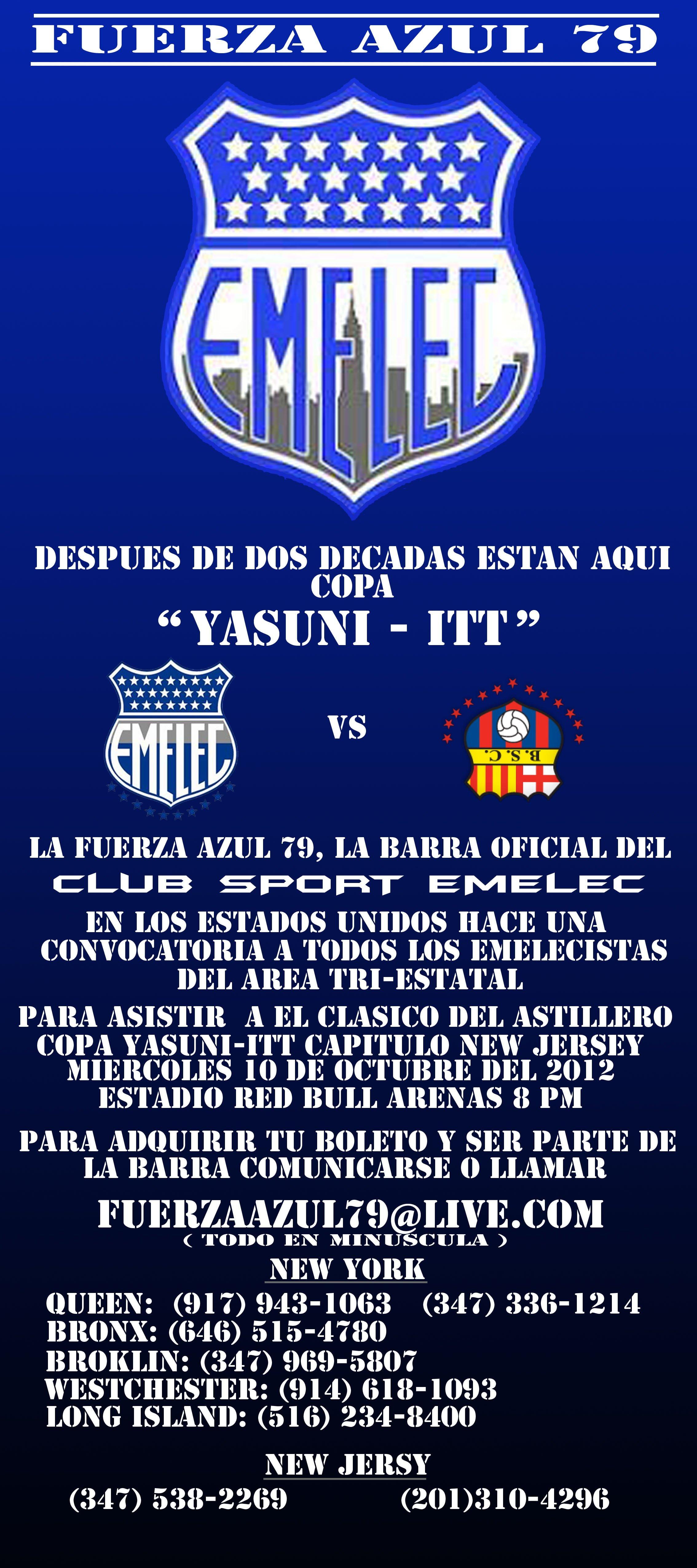 Fuerza Azul 79 convoca a los azules en  para el Clásico Yasuní-ITT