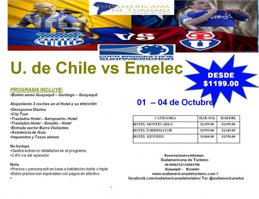 EMELEC VS U DE CHILE