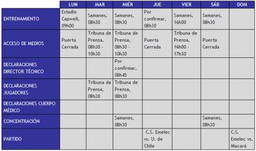 Cronograma de Trabajo del primer plantel correspondiente a la semana 22 al 28 de octubre.