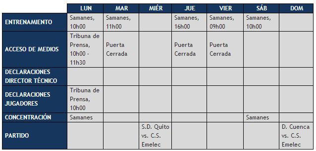 Boletín Oficial : Cronograma de trabajo hasta el 2 de Diciembre