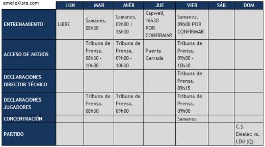 Cronograma de Trabajo del primer plantel correspondiente a la semana del 10 al 16 de diciembre.