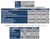 Boletín Oficial : precio de entradas EMELEC vs. Deportes Iquique