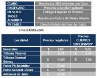 Boletín oficial : Venta de boletos EMELEC VS. Peñarol