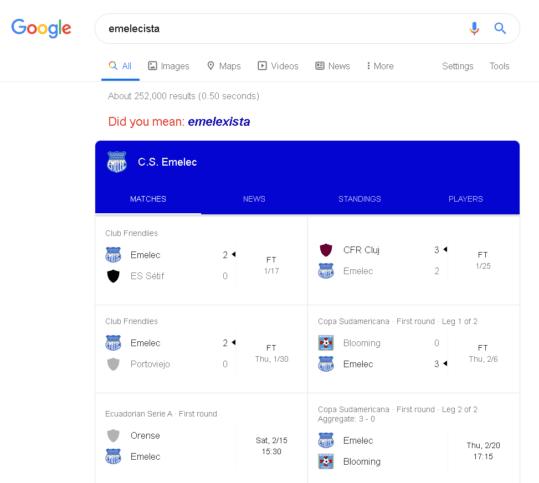 google sugerencias