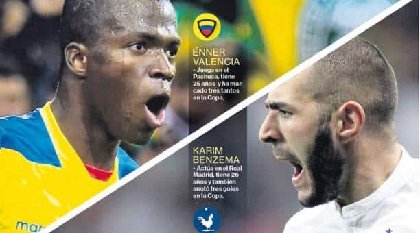 ecuador vs. francia – enner vs. benzema – duelo de goleadores