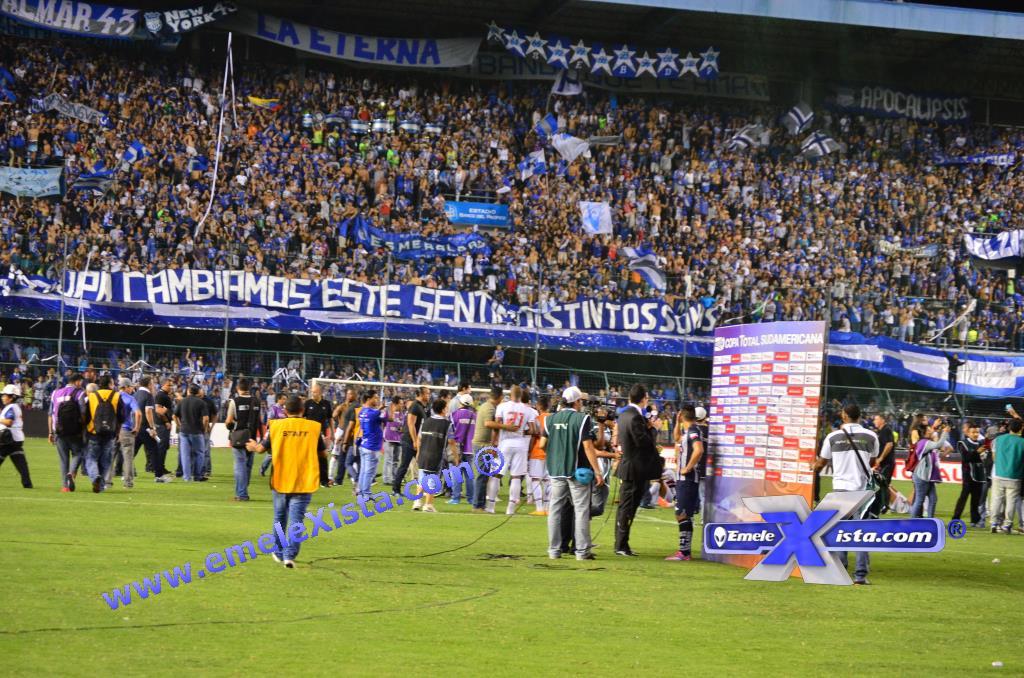 copa sudamericana : emelec 3 x 2 sao paulo (5 noviembre 2014)