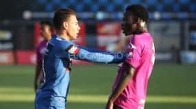 Caicedo de Independiente manoseó a Rolón y fingió una falta