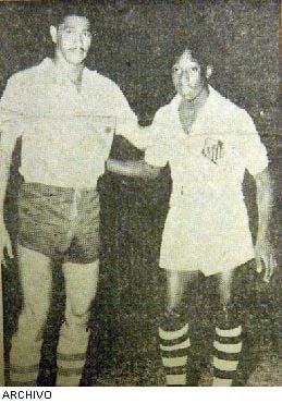 pelé en el estadio capwell 1959