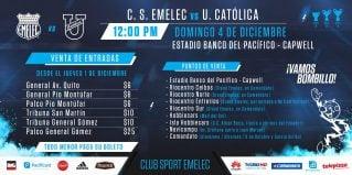 ¿Cuánto cuesta ir a ver el partido EMELEC vs. U. Católica?