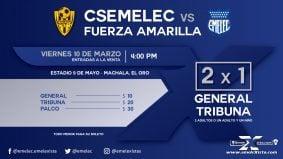 En Machala habrá 2x1 en General y Tribuna