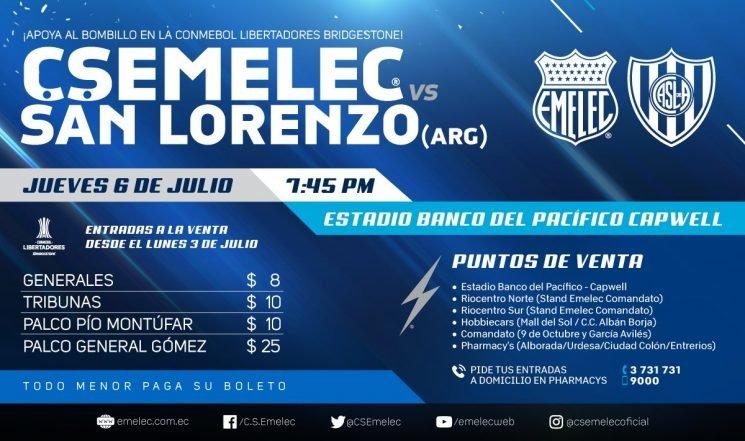 Copa Libertadores Emelec San Lorenzo