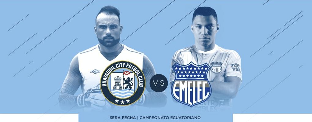guayaquil city vs. emelec este lunes a las 19:30