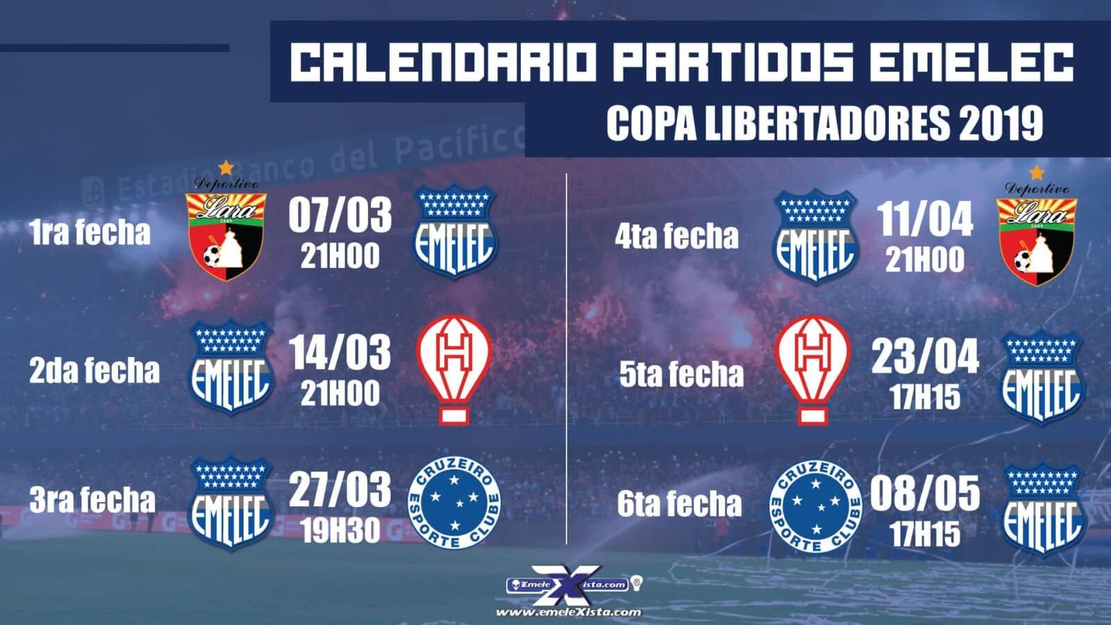 Copa Libertadores : Un calendario 2019 prometedor para EMELEC