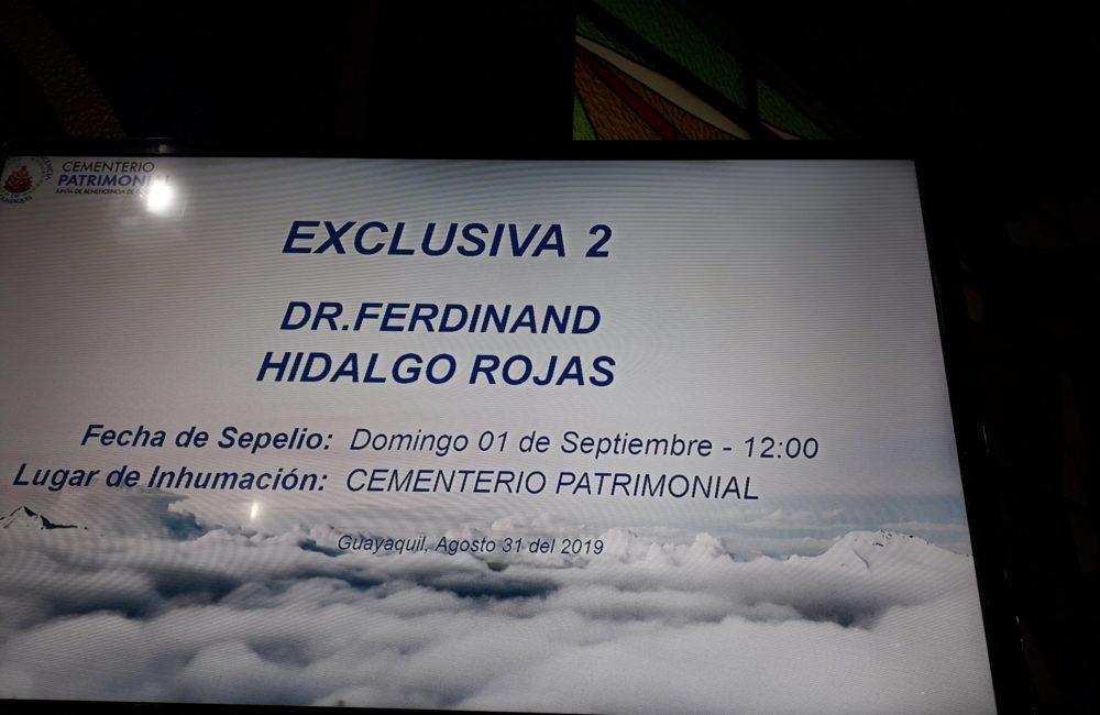 Se fue una leyenda Ferdinand Hidalgo