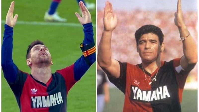 Messi homenajeó a Maradona replicando su gol ante EMELEC