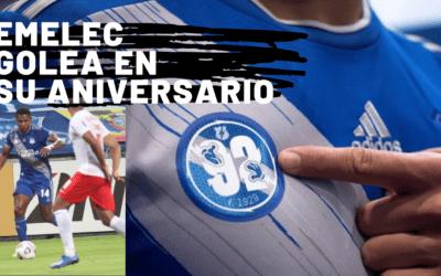 EMELEC golea por Copa Sudamericana en su aniversario 92