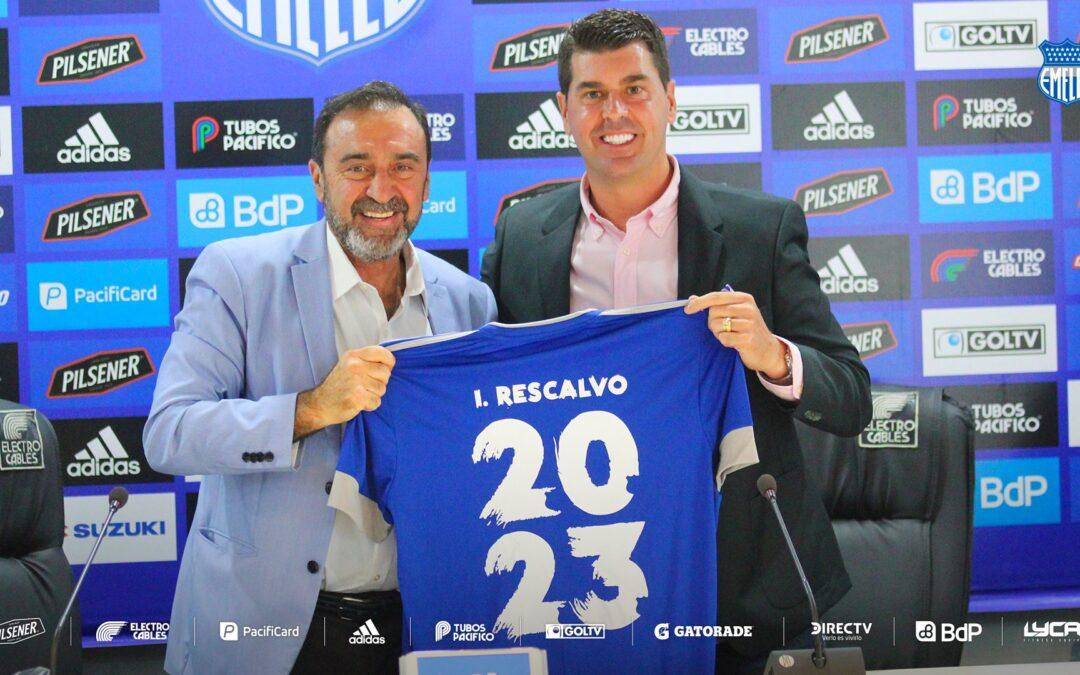 Ismael Rescalvo será el DT de EMELEC hasta diciembre de 2023